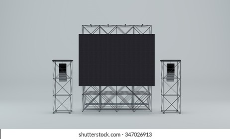 Led screen with sound portals