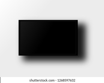 LED TV on a gray gradient background