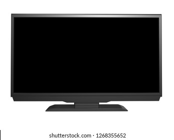 LED tv on white background. 3D rendering