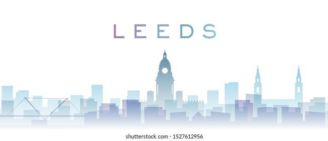 Leeds Transparent Layers Gradient Landmarks Skyline