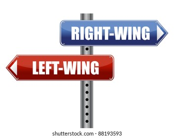 left and right wing sign illustration design