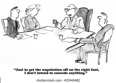 Contract Negotiation Cartoon High Res Stock Images | Shutterstock
