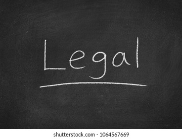 legal concept word on a blackboard background