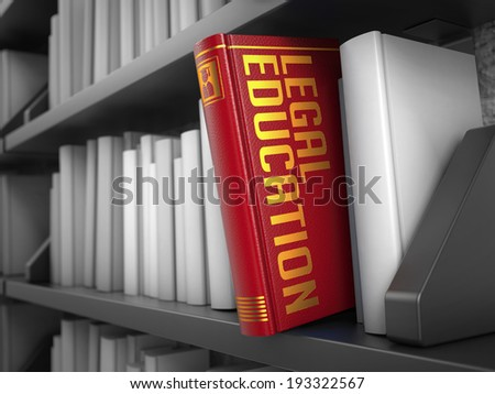 Legal Education Red Book On Black Stock Illustration 193322567