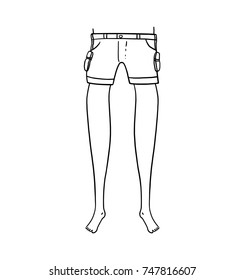 Legs outline illustration