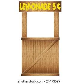 Lemonade Stand On White