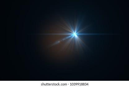 Lens Flare Blue Light