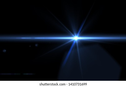 lens flare effects for overlay designs or screen blending mode to make high-quality images of cool light isolated on a black background