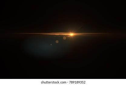 Lens Flare Gold Shine