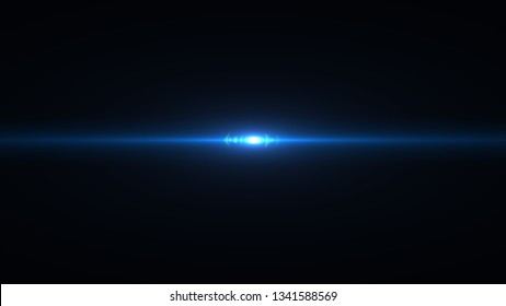 Lens flare light on black background. Easy to add overlay or screen filter over photos