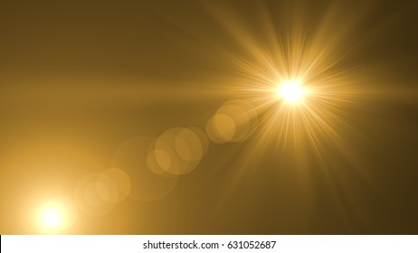 Lens flare light over black background. Easy to add overlay or screen filter over photo