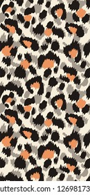 Leopard fur, animal print, seamless pattern