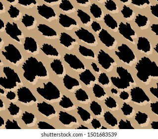 Leopard pattern design, illustration background