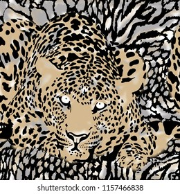 leopard print background.Animal print.