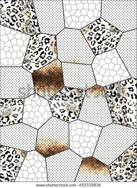 Leopard print. Geometric background