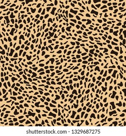Leopard Seamless Pattern Design.