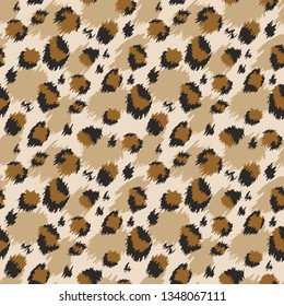 Leopard seamless pattern. Tiger skin print. Animal background.