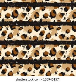 Leopard seamless pattern. Tiger skin print. Animal background.