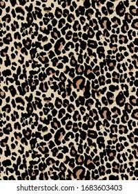 Leopard skin pattern design for print seamless