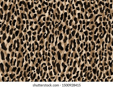 Leopard skin pattern repeating seamless monochrome Texture Leopard . Fashionable print. Fashion and stylish background