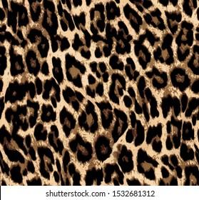 Leopard skin pattern. Textures design seamless