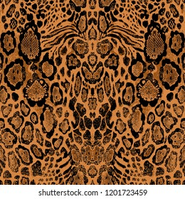 Leopard and Snake pattern. .Abstract background.for textile, wallpaper, pattern fills, covers, surface, print, gift wrap, scrapbooking, decoupage.Seamless