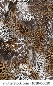 Leopard and Zebra Tiger Crocodile Animal Skin Design