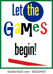 Let The Games Begin (Word Clip Art)