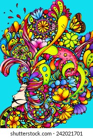Let Thy Words Be Few - Marker Rendering, Art, Drawing, Bright, Colorful, Lady, Princess, Woman