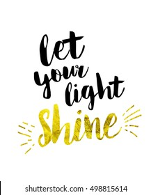 Let your light shine Bible Scripture Art