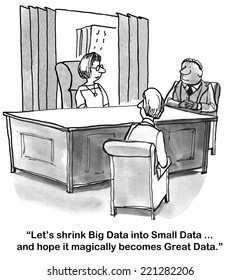 """Let's shrink Big Data into Small Data... and hope it magically becomes Great Data."""