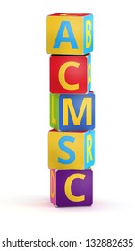 Letter I from ABC cubes for kid spell education