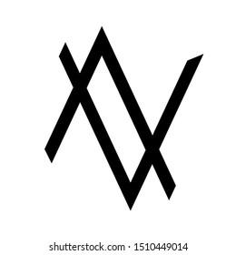 Letter AV Logo White & Black For Creative Industry, Web, Business and Company