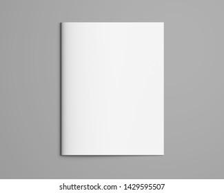 Letter Brochure Mockup 3D, Magazine Cover, Book, Mockup