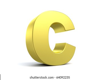 letter C from my golden collection