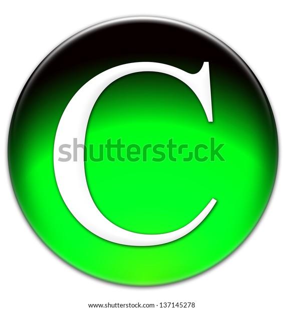 Letter C Times New Roman Font Stock Illustration 137145278