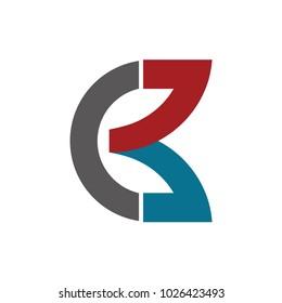 Letter CB,CK,B, logo icon design template elements
