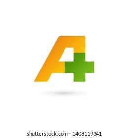 Letter A cross plus logo icon design template elements