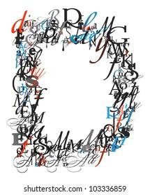 Letter P Alphabet Different Font Letters Stock Illustration