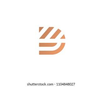 Letter D line logo design. Creative minimalism logotype icon symbol.
