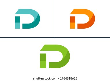 LETTER D Logo Design.Multiple Colored Logos.Brand Identity.Business logo