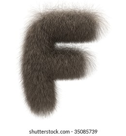 Letter F from fur alphabet