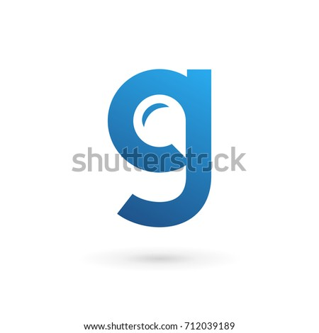 letter g speech bubble logo icon design template elements