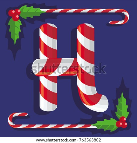 c31034356f3bb Royalty Free Stock Illustration of Letter H Sign Red White Sweets ...