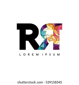 letter initial logotype logo abstract colorful geometrical rr