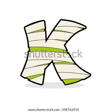 Letter K Monster Zombie Mummy Font Stock Illustration 348762914 ...