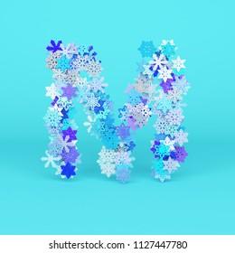 M Letter Flower Your Design Stock Vector Royalty Free 264378992