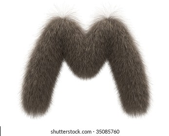 Letter M from fur alphabet