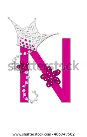 Royalty Free Stock Illustration of Letter N Alphabet Set Pageant