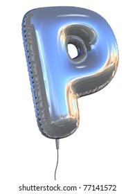letter P balloon 3d illustration